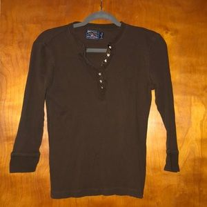 American Living brand waffle knit 3/4 sleeve top